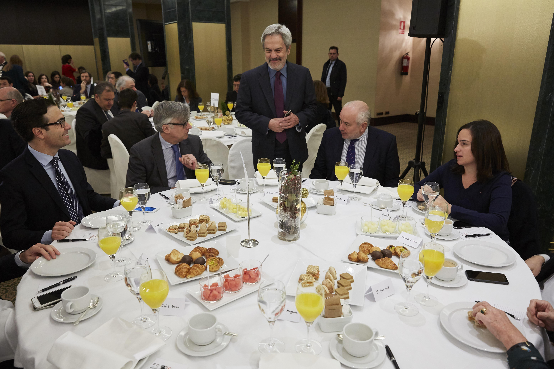 20-Diciembre-2016. Desayuno de Europa Press. Foro América con la Sra. Susana Malcorra y D. Fernando García Casas.  © A. Perez Meca / EUROPA PRESS